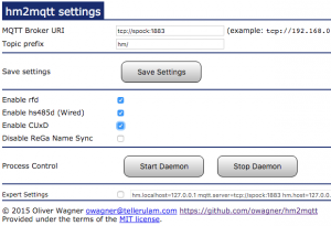 hm2mqtt settings